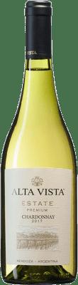 12,95 € Kostenloser Versand | Weißwein Altavista Premium I.G. Mendoza Mendoza Argentinien Chardonnay Flasche 75 cl