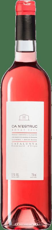 4,95 € Free Shipping | Rosé wine Ca N'Estruc Rosat D.O. Catalunya Catalonia Spain Bottle 75 cl