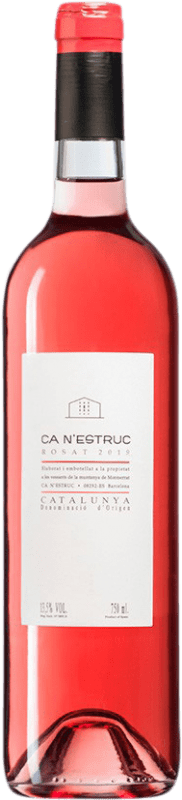 4,95 € Envío gratis | Vino rosado Ca N'Estruc Rosat D.O. Catalunya Cataluña España Botella 75 cl