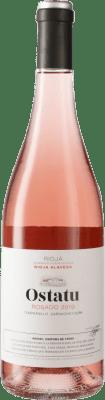 6,95 € Kostenloser Versand   Rosé-Wein Ostatu Rosé D.O.Ca. Rioja Spanien Tempranillo, Grenache, Viura Flasche 75 cl