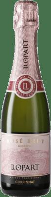 13,95 € Free Shipping | Rosé sparkling Llopart Rosé Brut Reserva Corpinnat Spain Grenache, Monastrell, Pinot Black Half Bottle 37 cl