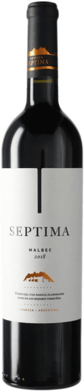 9,95 € Free Shipping | Red wine Séptima Séptima I.G. Mendoza Mendoza Argentina Malbec Bottle 75 cl