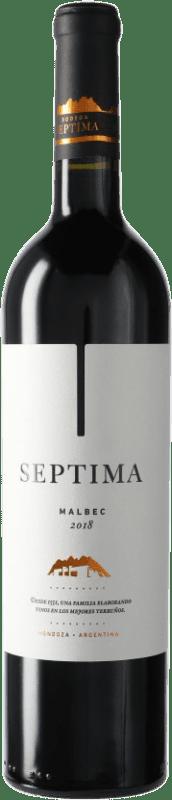11,95 € Envoi gratuit | Vin rouge Séptima Séptima I.G. Mendoza Mendoza Argentine Malbec Bouteille 75 cl