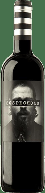 7,95 € Envoi gratuit | Vin rouge Uvas Felices Sospechoso I.G.P. Vino de la Tierra de Castilla Castilla La Mancha Espagne Tempranillo, Tinta de Toro Bouteille 75 cl