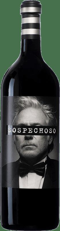 75,95 € Free Shipping | Red wine Uvas Felices Sospechoso I.G.P. Vino de la Tierra de Castilla Castilla la Mancha Spain Special Bottle 5 L