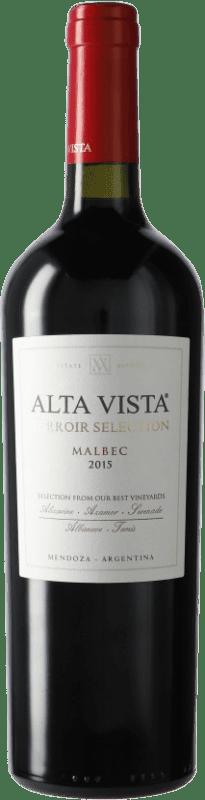 18,95 € Envío gratis | Vino tinto Altavista Terroir Selection I.G. Mendoza Mendoza Argentina Malbec Botella 75 cl