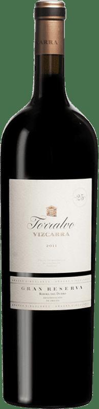 299,95 € Envoi gratuit | Vin rouge Vizcarra Torralvo Gran Reserva D.O. Ribera del Duero Castille et Leon Espagne Tempranillo Bouteille Magnum 1,5 L