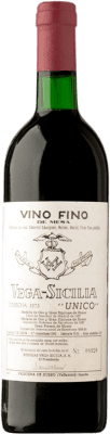 605,95 € Free Shipping | Red wine Vega Sicilia Único Gran Reserva 1973 D.O. Ribera del Duero Castilla y León Spain Tempranillo, Merlot, Cabernet Sauvignon Bottle 75 cl