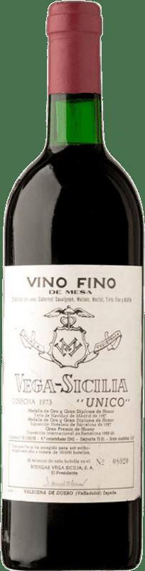 489,95 € Free Shipping | Red wine Vega Sicilia Único Gran Reserva 1973 D.O. Ribera del Duero Castilla y León Spain Tempranillo, Merlot, Cabernet Sauvignon Bottle 75 cl