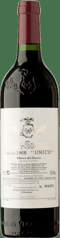 1 864,95 € Envío gratis | Vino tinto Vega Sicilia Único Gran Reserva 1968 D.O. Ribera del Duero Castilla y León España Tempranillo, Merlot, Cabernet Sauvignon Botella 75 cl