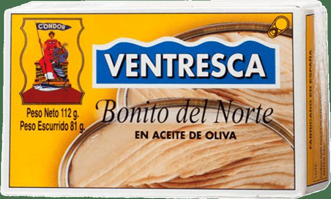 11,95 € Kostenloser Versand | Conservas de Pescado Condor Ventresca de Bonito del Norte en Aceite de Oliva Spanien