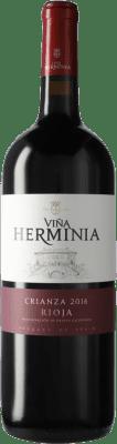 9,95 € Envío gratis | Vino tinto Viña Herminia Viña Herminia Crianza D.O.Ca. Rioja España Botella Mágnum 1,5 L