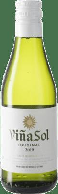 2,95 € Free Shipping | White wine Torres Viña Sol D.O. Penedès Catalonia Spain Parellada Small Bottle 18 cl