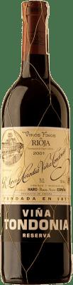 61,95 € Kostenloser Versand | Rotwein López de Heredia Viña Tondonia Reserva 2001 D.O.Ca. Rioja Spanien Tempranillo, Grenache, Graciano, Mazuelo Flasche 75 cl